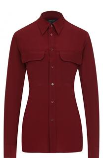 Шелковая блуза прямого кроя Polo Ralph Lauren