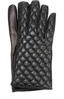 Кожаные перчатки с металлическими заклепками Valentino