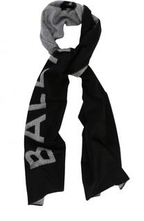 Шарф из кашемира и шерсти с логотипом бренда Balenciaga
