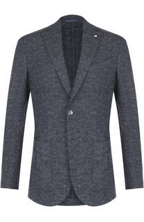 Однобортный пиджак из смеси шерсти и вискозы L.B.M. 1911