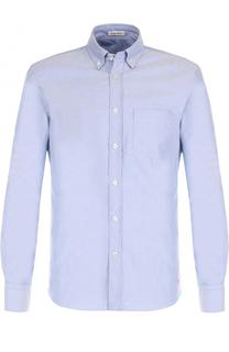 Хлопковая рубашка с воротником button-down Tomas Maier