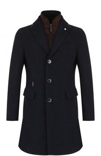 Шерстяное однобортное пальто с подстежкой L.B.M. 1911