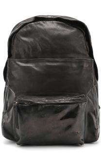 Кожаный рюкзак с внешним карманом на молнии OXS rubber soul