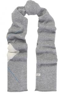 Вязаный шарф из смеси кашемира и лиоселла с узором FTC