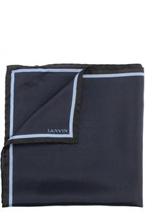 Шелковый платок с контрастным кантом Lanvin