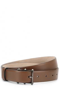 Кожаный ремень с металлической пряжкой Valentino