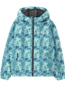 Куртка с принтом и капюшоном Giorgio Armani