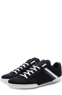 Замшевые кеды на шнуровке Dior
