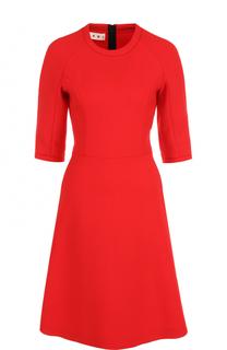 Шерстяное приталенное платье Marni