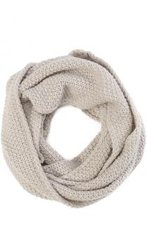 Вязаный шарф-снуд из шерсти и кашемира Artiminesi