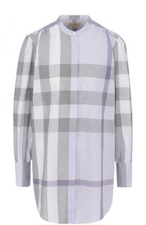 Блуза прямого кроя в контрастную клетку Burberry