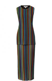 Вязаное платье с топом в контрастную полоску Diane Von Furstenberg
