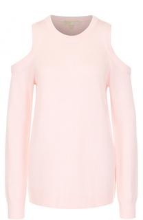 Пуловер свободного кроя с открытыми плечами MICHAEL Michael Kors