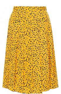 Шелковая юбка-миди с принтом MICHAEL Michael Kors