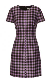 Приталенное мини-платье в контрастную клетку Diane Von Furstenberg