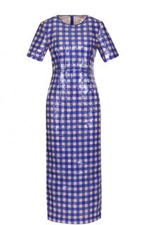 Приталенное платье-миди с вышивкой пайетками Diane Von Furstenberg