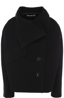 Однобортное укороченное пальто из шерсти Acne Studios