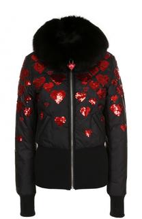 Куртка на молнии с вышивкой пайетками Philipp Plein