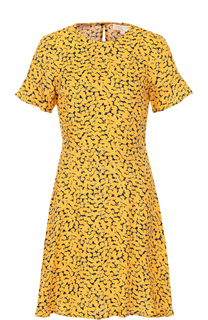 Шелковое платье с принтом MICHAEL Michael Kors