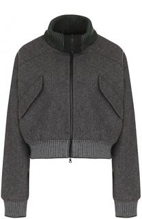 Шерстяная укороченная куртка на молнии Walk of Shame