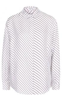 Шелковая блуза с контрастной отделкой Carven
