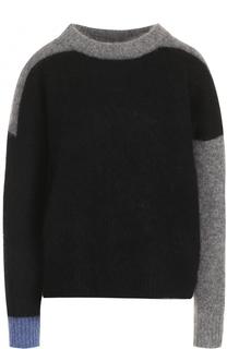 Вязаный пуловер с контрастными вставками Acne Studios
