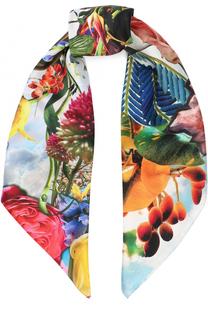 Шелковый платок с принтом Christian Lacroix