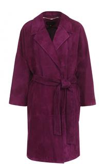 Замшевые пальто с поясом Escada