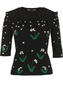 Шерстяной пуловер с вышивкой Valentino