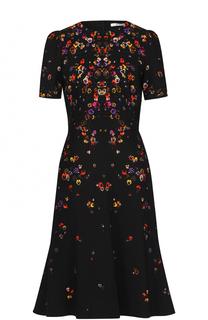 Приталенное платье-миди с принтом Givenchy