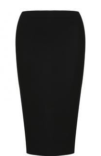 Шерстяная юбка-карандаш с разрезом Ralph Lauren