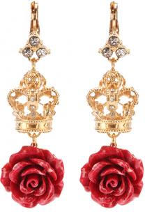 Серьги с декоративными элементами и кристаллами Swarovski Dolce & Gabbana