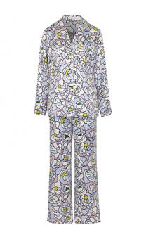 Шелковая пижама с принтом Olivia Von Halle