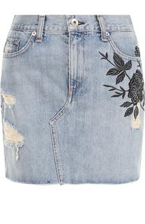 Джинсовая юбка с вырезом Rag&Bone Rag&Bone