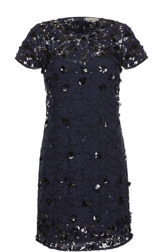 Кружевное мини-платье с декоративной отделкой MICHAEL Michael Kors