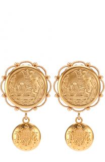 Серьги-клипсы с круглыми элементами с геральдическими гербами Dolce & Gabbana