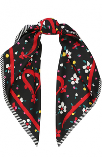 Шелковый шарф с принтом Marc Jacobs