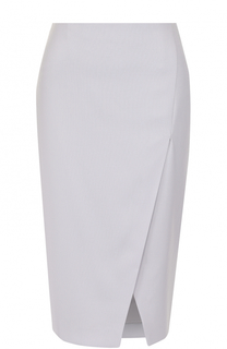 Шерстяная юбка-карандаш с разрезом Giorgio Armani