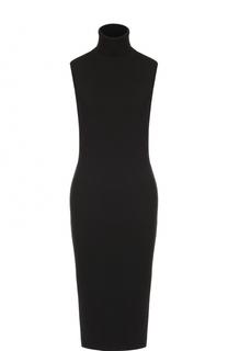 Приталенное шерстяное платье-миди без рукавов Ralph Lauren
