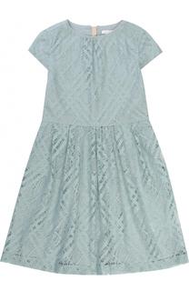 Платье-миди с кружевной отделкой Burberry