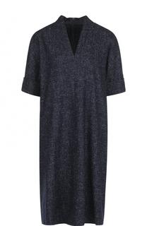 Шерстяное платье-миди прямого кроя Escada