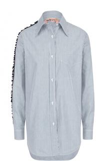 Блуза прямого кроя с декоративной отделкой No. 21