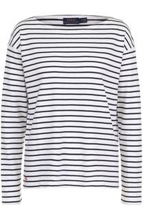 Хлопковый пуловер в контрастную полоску Polo Ralph Lauren