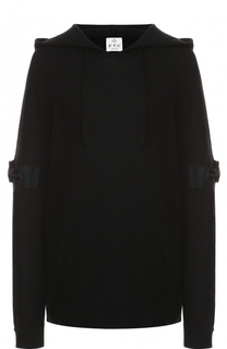 Вязаный пуловер с декоративной отделкой и капюшоном FTC