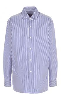 Хлопковая блуза в контрастную полоску Ralph Lauren
