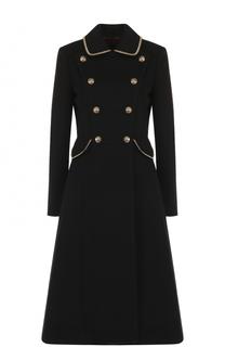 Двубортное шерстяное пальто с декоративной отделкой Ralph Lauren