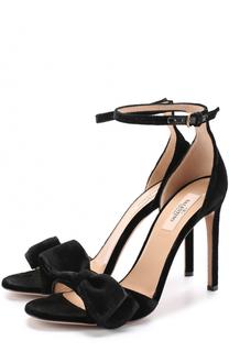 Бархатные босоножки Pretty Bow на шпильке Valentino