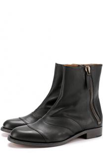 Кожаные ботинки Lexie с молниями Chloé
