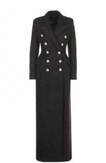 Двубортное приталенное пальто Balmain