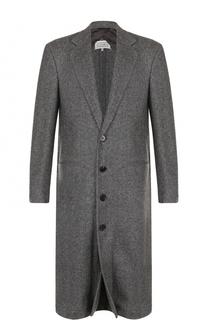 Шерстяной однобортное пальто Maison Margiela